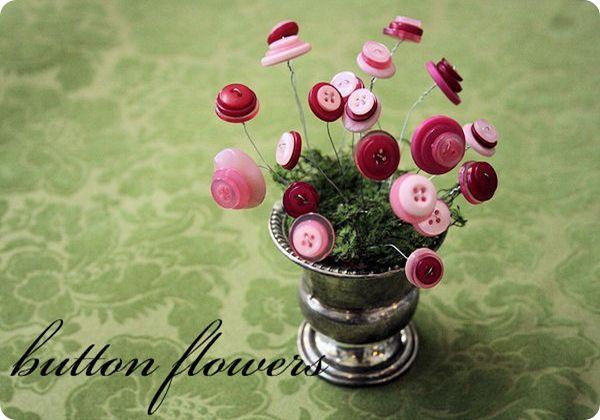 button flowers  cute accessory decor item