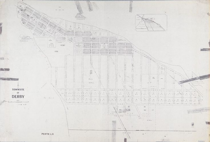 DERBY Cadastral map showing land use and zoning with some notes on vegetation. Includes two enlargements of subdivisions. Part of collection: Townsite maps, Western Australia. https://encore.slwa.wa.gov.au/iii/encore/record/C__Rb1883906