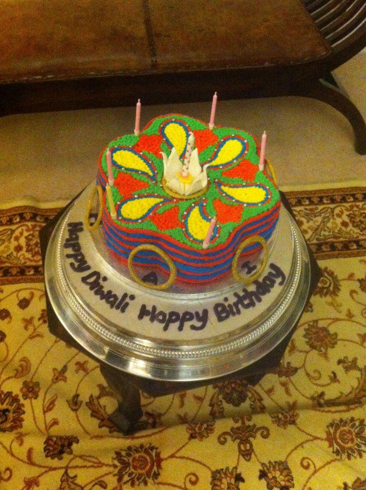 Hema,Asha and Inaya's Diwali/Birthday Cake