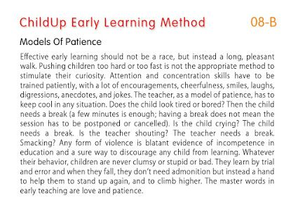 ChildUp Preschool Math Lessons - Models of Patience: Reminder to Parents as First Teachers. #EarlyLearning #Preschool #Parenting