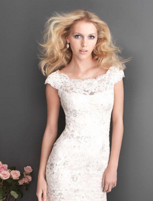 2014 White Mermaid Wedding Dress Lace Wedding by 58weddingdress, $209.00