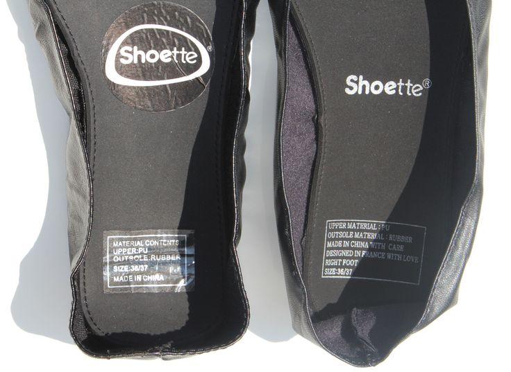 L'étiquette de la nouvelle SHoette Mini a elle aussi évolué !  Découvrez tous nos modèles de ballerines de secours pliables et enroulables sur www.shoette.com