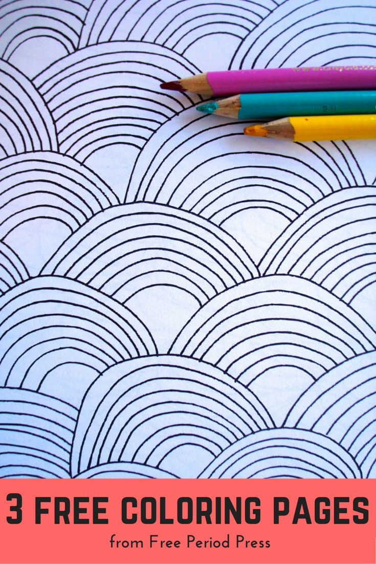 Adults and coloring books - 3 Free Printable Coloring Pages Of Abstract Patterns For Adults And Kids