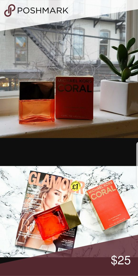 Michael Kors Perfume, Coral 1 fl oz brand new, in box. I received it as a gift, but unfortunately I don't wear perfume. It smells lovely, very floral and perfect for spring. Michael Kors Other