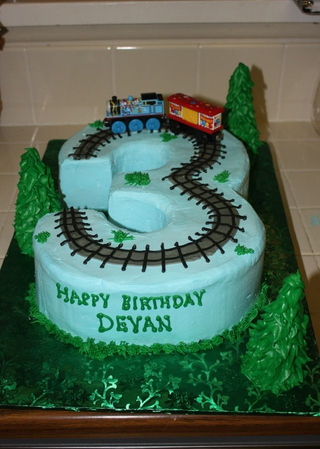 Images Of Train Birthday Cakes : Train birthday cake for 3 year old Cake Ideas ...