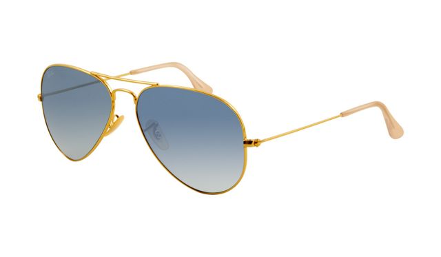 I WANT THESE!!!  Ray Ban RB3025 Aviator Sunglasses Gold Frame Crystal Gradient Bl