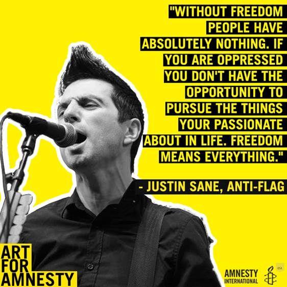 Anti-Flag Stream American Spring Via Amnesty InternationalWithGuitars