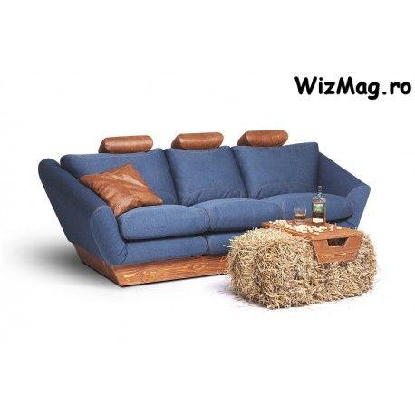 Canapea din stofa cu 3 locuri Galera