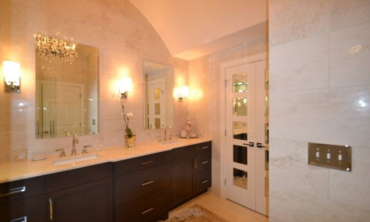 Like The Dark Vanity Light Top Frameless Mirrors Mixing Contemporary Vanity Lights With
