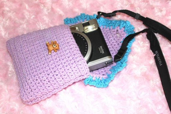 WildBeary Hand-Crocheted Polaroid Instax Mini 90 Camera by FatBats