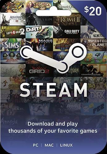 Steam Gift Cards. They basically let you buy good PC games on ridiculous dirt-cheap sales. Like Kings Quest, Rocket League, Grim Fandango, and Transistor. (If you havent heard of those, look them up.)