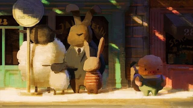 "Flooby Nooby: First look at ""The Dam Keeper"" short-film by Pixar artists Dice Tsutsumi and Robert Kondo"