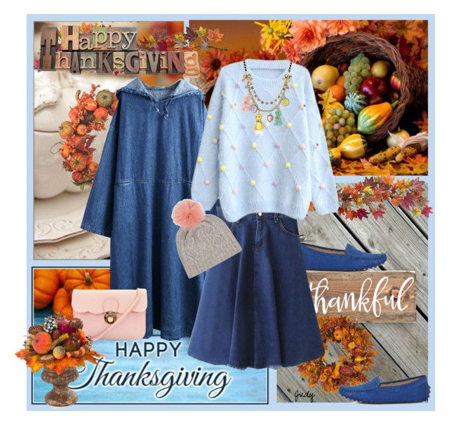 """Casual, Comfy, Congenial Thanksgiving"" by judymjohnson ❤ liked on Polyvore featuring Nearly Natural, Pier 1 Imports, Harvest, Betsey Johnson and MacKenzie-Childs"