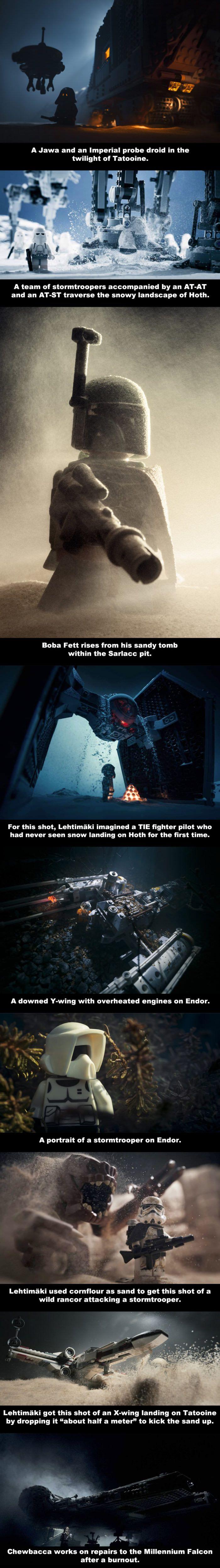 Epic Star Wars Movie Scenes Recreated By Lego (By Vesa Lehtimäki)