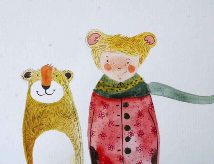 #aquarell #aquarelle #watercolorpainting #watercolor #watercolorart #animalart #illustration#drawing #frends #winter #bearillustration #bear  #bearhat