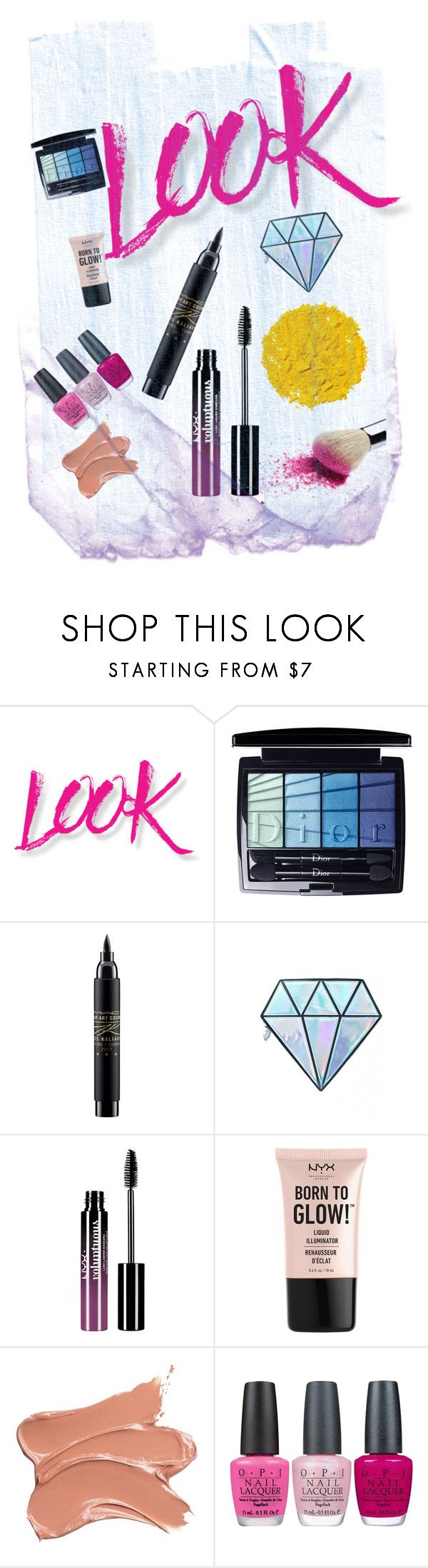 Untitled #157 by vendys on Polyvore featuring beauty, Unicorn Lashes, Christian Dior, Illamasqua, NYX, MAC Cosmetics, Charlotte Russe and OPI