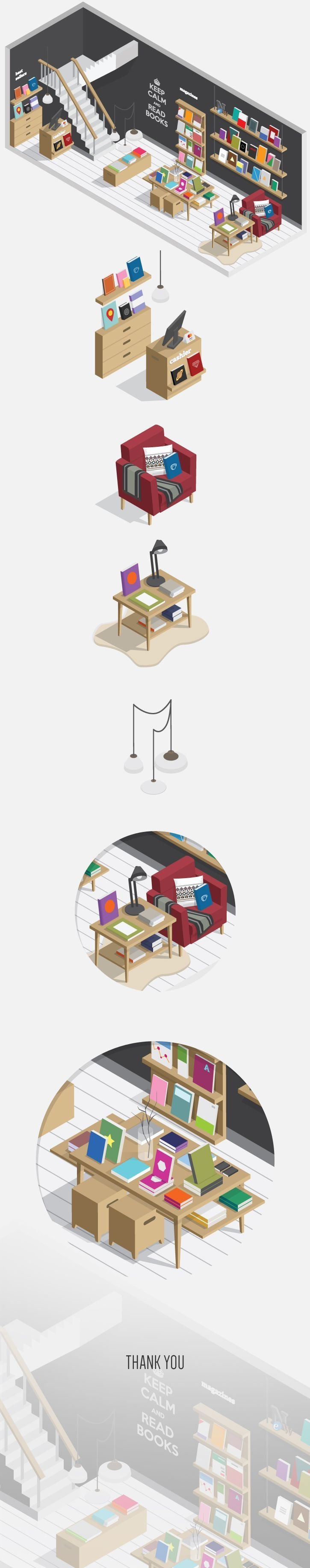 #flat_illustration Bookstore https://www.behance.net/gallery/21453685/Bookstore 647c8db172fb7a778da55128b1f4eefd.jpg (JPEG Image, 725 × 3664 pixels) - Scaled (26%):
