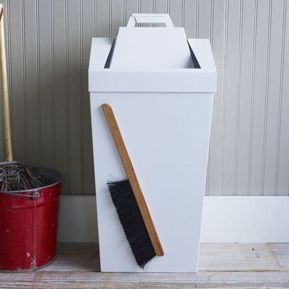 Brendan Ravenhill Dustbin - $149.00  This is genius! Never lose your broom again. The magnetic birch wood brush hangs firmly on its beautiful bin, and the top detaches to become a pan for sweeping up dust. It's like art.