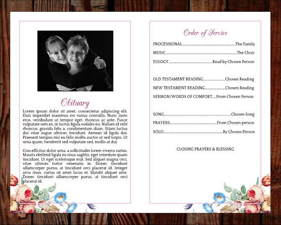 29 best Funeral\/Memorial Programs Templates images on Pinterest - funeral service templates word