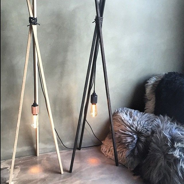 Tripod lamp built by One Funky Furniture with Buster+Punch light bulbs * Shock of the Lighting * The Inner Interiorista