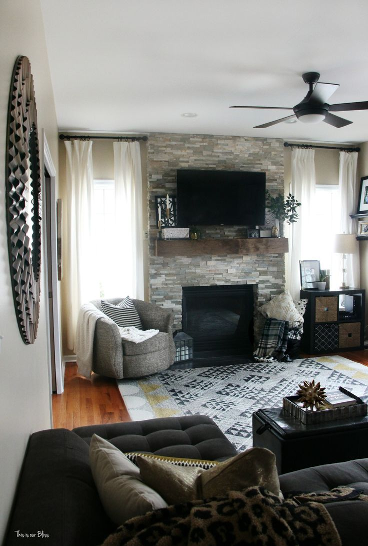 How to style a mantle modern rustic family room This is our Bliss