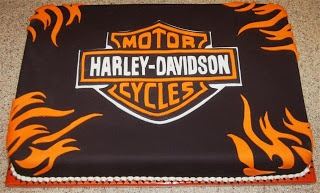 Pink Outside the Box Cakes: Harley Davidson Cake