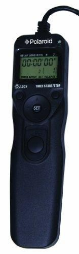 Polaroid Wireless Camera Shutter Remote w/Interval Timer - Includes Receiver, Handheld Transmitter w/Backlit Display & Connector Cable - Transmitter Enables Shooting Mode Switching w/o Need of Adjusting Camera Settings - Battery Operated For Nikon D90, D3