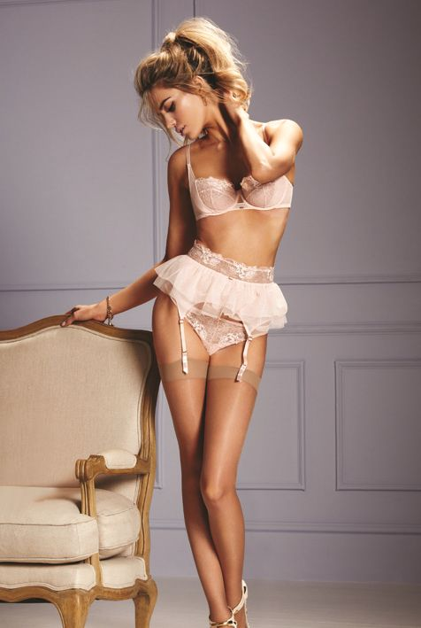 Gossard AW2014 'Phoebe' Collection (Beautiful, If worn in dance, I would not be able to wear stockings, as it would cause slip when we need grip but the set is striking!)