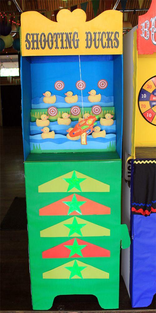 cardboard carnival booths