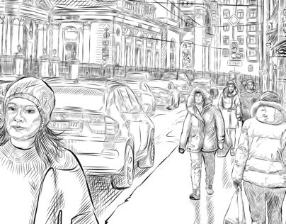 "Check out my @Behance project: ""Street of Moscow ))"" https://www.behance.net/gallery/50320571/Street-of-Moscow-))"