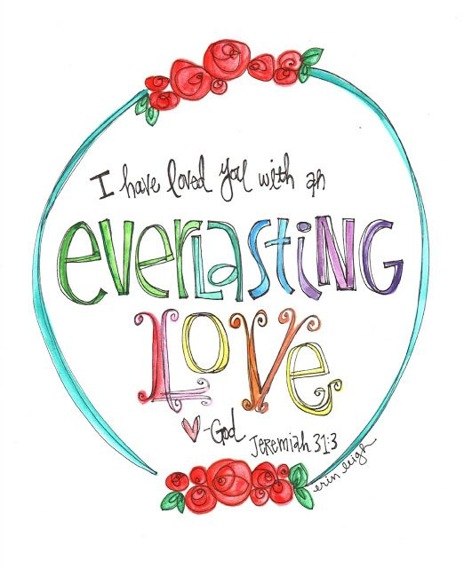Art by Erin Leigh: Sunday Scripture Free Printable: Jeremiah 31:3
