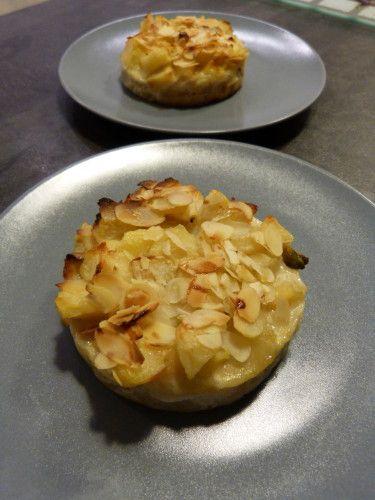 Samedi dernier c'était week-end sans les enfants, j'en ai profité pour nous faire un petit repas aux chandelles et j'ai voulu essayé cette recette qui me faisait de l'oeil depuis un petit moment. Pour 6 nougats aux pommes: 1 pâte sablée 1,2 kg de pommes...