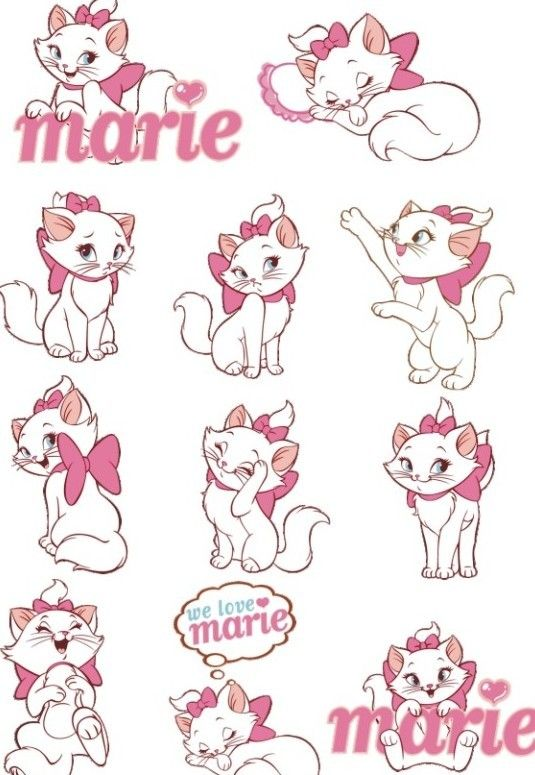 Free Vector Disney Marie Cat Set 02 » TitanUI