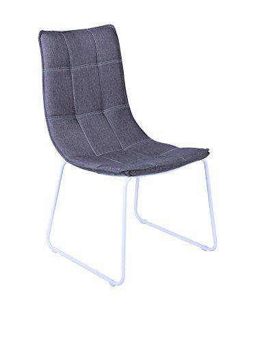 it.buyvip.com  Set di 4 sedie con struttura in metallo verniciato, seduta imbottita e rivestita in tessuto.