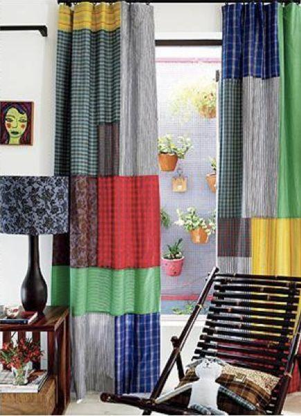 Artes na internet patchwork curtains