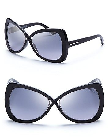 Tom Ford Jade Oversized Crossover Sunglasses   Bloomingdale's