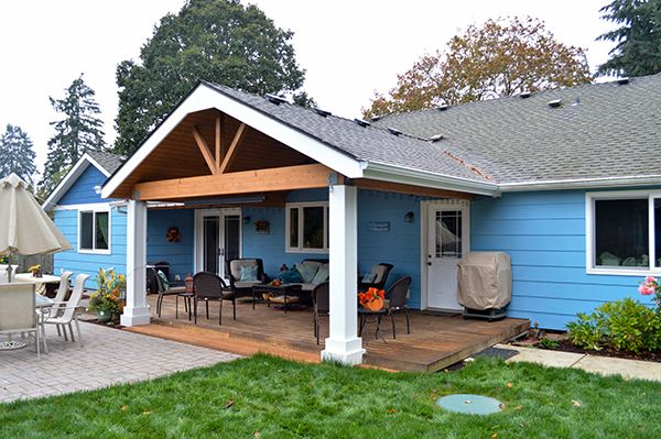 Gable And Shed Patio Cover In Albany, Oregon At TnTBuildersInc.com