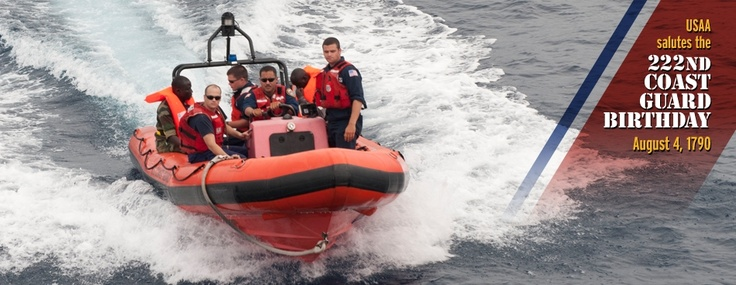 Happy 222nd Birthday U.S. Coast Guard! #military #celebration #coastguard