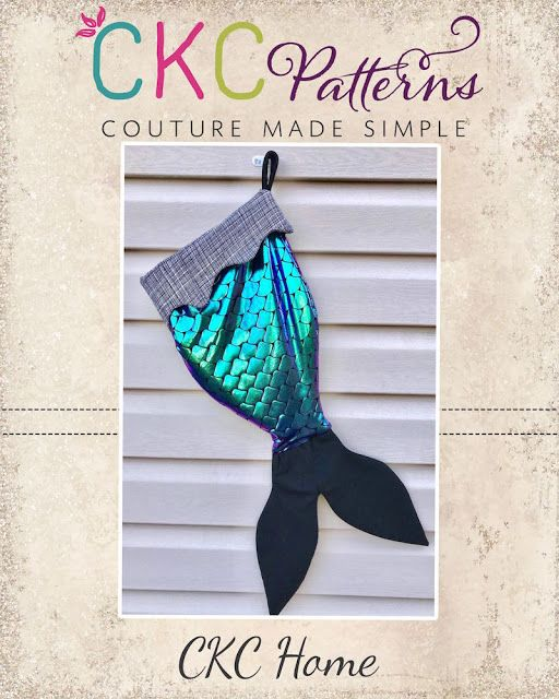 Create Kids Couture: 3rd Day of Christmas: Mermaid Tail Stocking