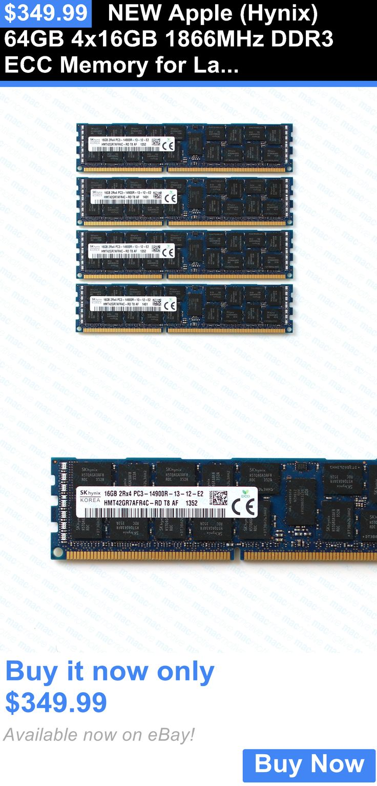 computer parts: New Apple (Hynix) 64Gb 4X16gb 1866Mhz Ddr3 Ecc Memory For Late 2013 Mac Pro BUY IT NOW ONLY: $349.99