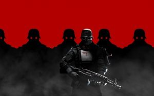 Preview wallpaper wolfenstein the new order, soldiers, helmets, weapons, swastika, germans, masks, machinegames, bethesda softworks