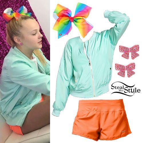 Jojo Siwa Rainbow Bow Mint Bomber Clothes Pinterest