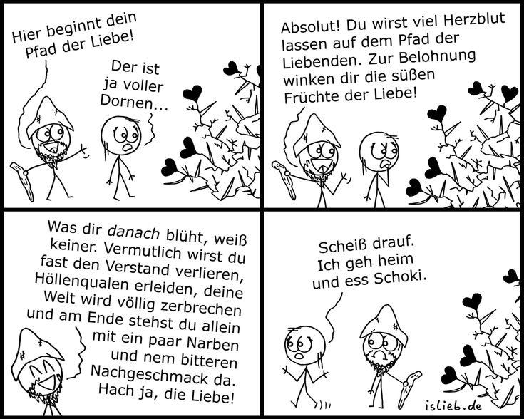 Pfad der Liebe | #dornen #verliebt #liebesschmerz #comic #islieb