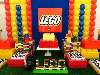Farolita Decoração de Festas Infantis: Lego