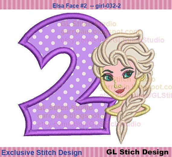 Queen Elsa Embroidery Design Frozen Cold 2nd By GLStitchStudio $4.99 | Pediatrics | Pinterest