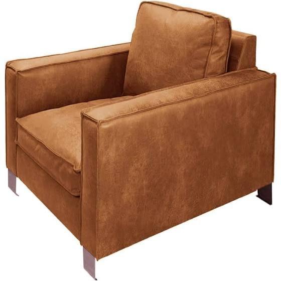 cognac leer fauteuil