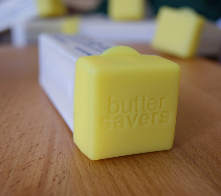Using plastic wrap, bags or foil to save your open stick of butter is wasteful. Butter Savers are durable and reusable butter stick end caps designed to help keep your butter's backside protected. - $5.99