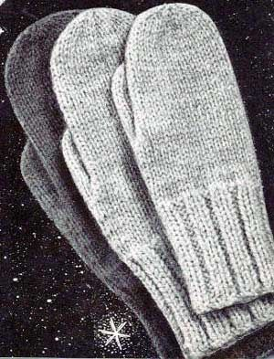 Classic Mittens | Free Knitting Patterns | How Do It Info