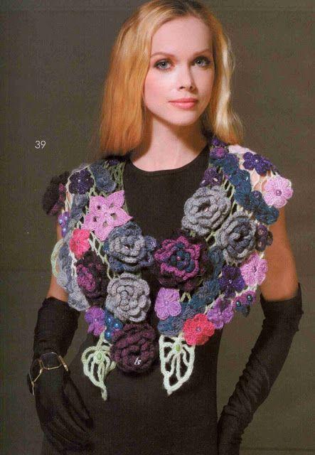 Patrón #1416: Cuello a Crochet | CTejidas [Crochet y Dos Agujas]