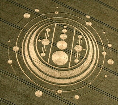 Crop Circle appeared at Windmill Hill, near Avebury Trusloe, Wiltshire on the 6th of August  2009.